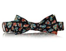 Black Paisley Bow Tie Dog Collar-  Stylish Custom Dog Collar (Bow Tie Collar)