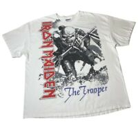Vintage Y2k Iron Maiden Band Tee Trooper Doible Sided Graphic T-Shirt Skull XXL