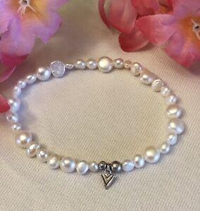 Silpada B1601 Freshwater Pearl Bracelet With Silpada Logo WEDDING!!!