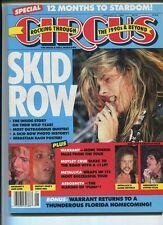 Circus  Jan 31 1990 Sebastian Bach Poster Motley Crue Aerosmith Metallica MBX97