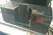 Logitech Pure-Fi Anytime Dual Alarm AM/FM Clock Radio iPhone/iPod audio dock AUX