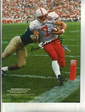 Eric Crouch Autographed Sports Illustrated Page Nebraska Heisman Trophy Winner