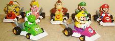 SET MINT 2005 Nintendo Super Mario Kart DS 4 Pull Backs Bowser Luigi Peach Yujin