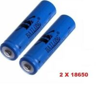 2X Batteria Pila Ricaricabile al Litio 3,7V per Torce LED Fotocamera 5200 mAh
