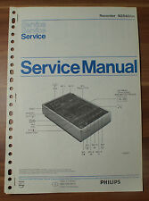 Recorders N2540 Philips Service Manual Serviceanleitung