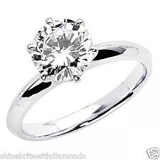 3 Ct Round Cut Solitaire Engagement Wedding Promise Ring Solid 950 Platinum