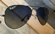 Authentic Rayban Polarized Aviators Blue Gray Gradient 58mm