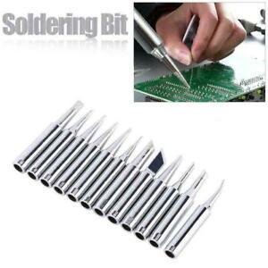 12pcs Soldering Iron Tips 900M-T For Hakko 936/937/928 Soldering W7I2 T L0M5