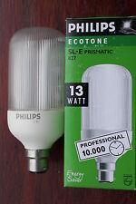 Philips Ecotone Pro 827 B22 SL-E  Electronic Prismatic Cover 13w Low Energy Bulb