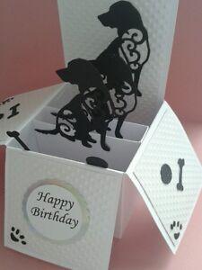 Pop up dog themed card