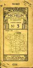 Carte Michelin en 47 feuilles N° 3 Amiens-Arras