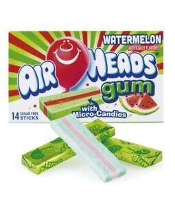 Air Heads Watermelon Flavor With Micro-Candies Sugar Free Gum American Gums