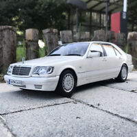 US Shipping- 1:18 1990 Mercedes-Benz S600 W140 DIECAST MODEL CAR TOYS COLLECTION