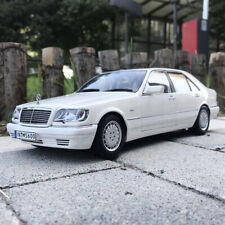 White ORIGINAL 1:18 1990 Mercedes-Benz S600 W140 DIECAST MODEL CAR COLLECTION