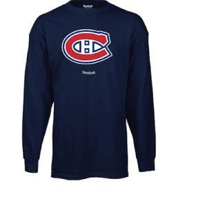 NHL Montreal Canadiens Vintage Thermal Long Sleeve Hockey Shirt New Mens S $35