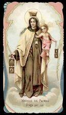 santino cromo-holy card-PAL-MADONNA DEL CARMINE