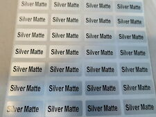 150 Silver Matte Customized Waterproof Name Stickers Labels 0.9 x 2.2 cm Tags
