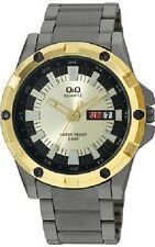 Q&Q by Citizen A150J400Y Men's Gunmetal Tone Day and Date Display Watch
