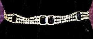 RARE!  Must SEE!    Best...Judith Leiber black & crystal rhinestone belt