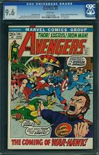CGC (MARVEL) AVENGERS # 98 NM+ 9.6 WHITE PAGES 1972 GOLIATH BECOMES HAWKEY