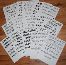 15 Laminated Lettering Tattoo Design Sheets D-Sided!!