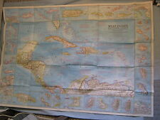 VINTAGE WEST INDIES & CENTRAL AMERICA MAP National Geographic January 1970
