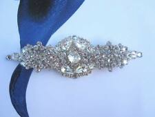 Wedding gown dress sash crystal brooch belt