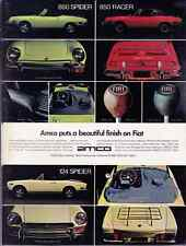 1971-1972 FIAT 850 SPIDER / 850 RACER / 124 SPIDER  ~  CLASSIC PRINT AD