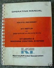 Kearney Trecker Cnc 811A Kt-Gemini-E Operating Manual