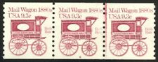 1903 -9.3c Mail Wagon Plate #6 VF/NH Strip of 3