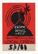 Earth, Wind, & Fire 1988 Touch The World Tour Local Crew Satin Backstage Pass