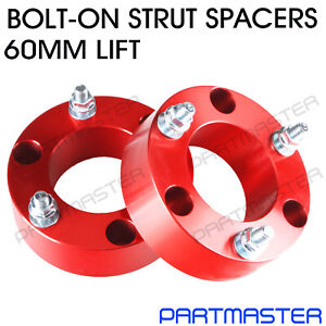 """Holden Colorado RG 2.8L 4WD Front Coil Spacers Strut 2"""" 60mm Lift Kit Pair"""