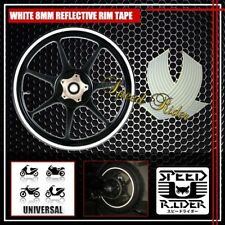 WHITE REFLECTIVE RIM TAPE WHEEL STRIPE TRIM CAR BIKE BICYCLE DECAL 16 17 18 19