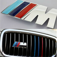 M Sport Color Performance Grill Silver Sticker Alloy Badge For BMW All Series 65