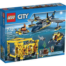 LEGO City Deep Sea Operation Base 60096 Building Set 907 Piece Plane Submarine