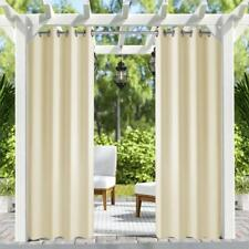 Hgmart 2Panel 50x84 Inch Outdoor/Indoor Patio Curtains for Porch Balcony Pergola