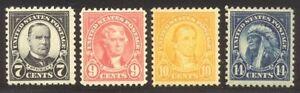U.S. #559//565 Mint NH - 1922 7c - 14c Pictorials ($80)
