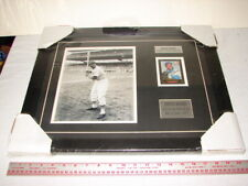 ART PICTURE BASEBALL CARD SIGNED AUTOGRAPH ERNIE BANKS CHICAGO CUBS CERTIFICATE