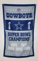 Dallas Cowboys Super Bowl Banner 3x5 Ft Flag Man Cave