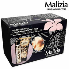 Woman Perfume Malizia Set Gift Animal Deodorant +Body Cream+ Necklace