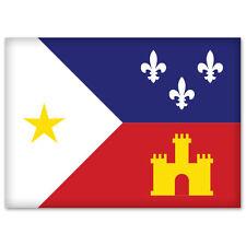 """Acadiana flag car bumper sticker decal 5"""" x 4"""""""