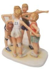 "Norman Rockwell's ""Oh Yeah"" Basketball Figurine Porcelain Four Boys Gorham Japan"