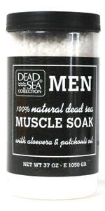 1 Count Dead Sea Collection 37 Oz Men Aloe Vera & Patchouli Natural Muscle Soak