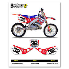 1998-1999 HONDA CR 125 Number Plate Dirt Bike Graphics TLD By Enjoy MFG