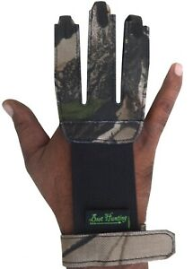 Camo Fabric With Suede Leather Shooting Gloves Archery Products.FAG-4433