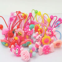 Children Elastic Hair Band Candy Color 10pcs cute Headbands Ropes Girls Headwear