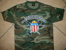 WOUNDED WARRIOR AMPUTEE SOFTBALL T SHIRT Camo Camouflage Jersey Veteran Soldier