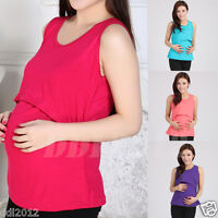 Women Pregnant Maternity Clothes Nursing Tops Breastfeeding Vest T-Shirt Blouse