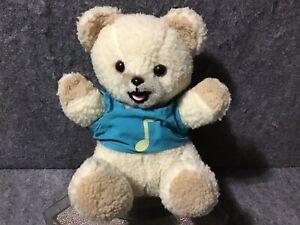Snuggle Softner Unilever Bear Blue Shirt Stuffed Plush Collectible Musical Toy