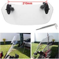 Windshield deflector Clip-On clear windscreen spoiler motor bike motorcycle